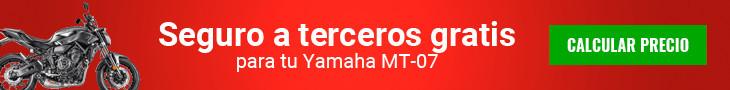 Seguro a terceros gratis Yamaha MT-07